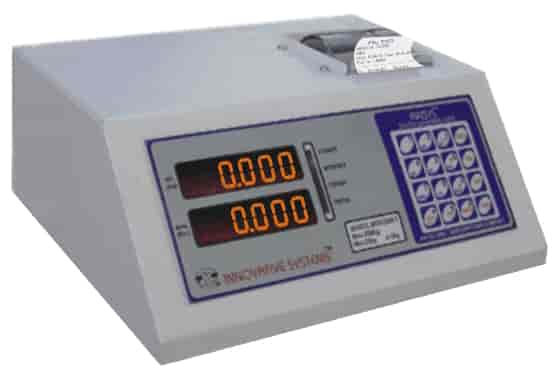 weighing machine indicator with printer